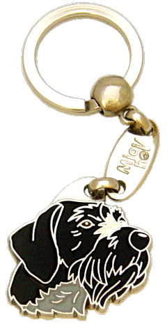 GERMAN WIREHAIRED POINTER BLACK - pet ID tag, dog ID tags, pet tags, personalized pet tags MjavHov - engraved pet tags online